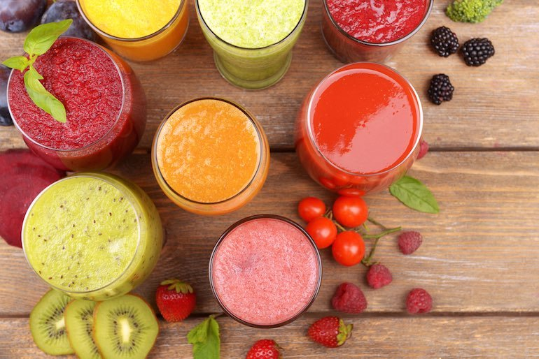 colorful-juice-glasses